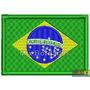Bordado Termocolante - Bandeira Países - Brasil 7x4,5cm