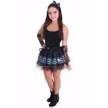 Fantasia Monster High Frankie (14-16 Anos) Saia E Tiara