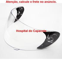 Combo Viseira Incolor Original Ls2 Ff350+ Fixador Da Viseira