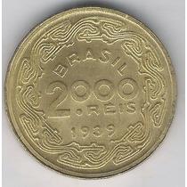 Brasil, 2000 Réis De 1939, Floriano Peixoto, Fc Br-aluminio