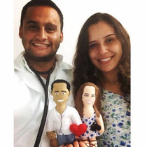 Toy Art Caricatura Personalizada Feltro (presente)