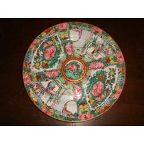 Prato Em Porcelana Chinesa Pintado A Mão