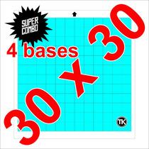 4 Bases De Corte Para Plotter Silhouette Cameo (30cmx30cm).