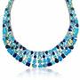 Bling Jewelry Água-marinha Azul Cz Afirmação Colarinho Colar