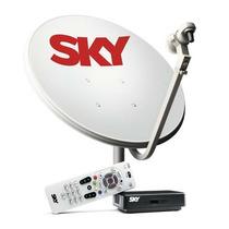Kit De Antena Parabólica Sky 60cm + Receptor Digital Sky Sd