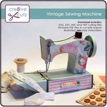 Kit Silhouette Maquina Costura Roupa Vintage Linha