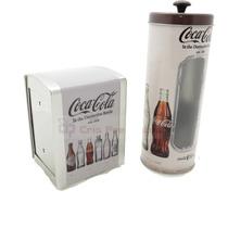 Kit Com Porta Canudo E Porta Guardanapo Coca Cola Evolução
