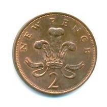 Moeda Inglaterra 2 New Pence - 1971 Sob