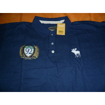 Camisa Polo Abercrombie And Fitch Azul P Lances A 1,