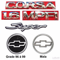 Emblemas Corsa Sedan Super 1.6 - 96 À 99 - Modelo Original