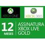 Cartão Xbox Live Gold 12 Meses Br -  Pronta Entrega