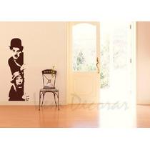Adesivo Decorativo Charlie Chaplin I - 170 Cm X 56 Cm Grande