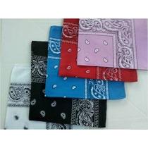 Kit 5 Bandanas Branco/preto/turquesa/vermelha/rosa- Algodão