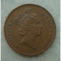 2179 Inglaterra 1989 Two Pence Elizabeth I I 26mm - Bronze
