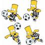 Adesivo De Parede- Futebol Bart Simpson Atlético Mineiro Mg
