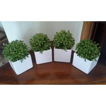 4 Vaso Branco Quadrado Com Buchinho