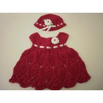Vestido Infantil De Crochê - Linha Anne (4 A 6 Meses)
