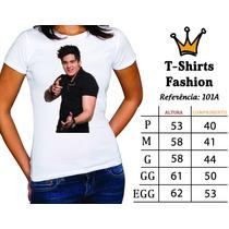 Luan Santana Gusttavo Lima Camiseta Baby Look Sertanejo