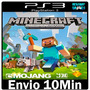 Minecraft Ps3 Play3 Via Psn Conteúdo Digital Envio Imediato