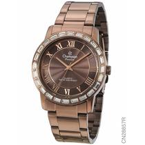 Relógio Champion Feminino Marrom Promoção Cn28857r