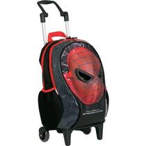 Mochila Homem Aranha Rodinhas ( M ) - Spiderman - Máscara