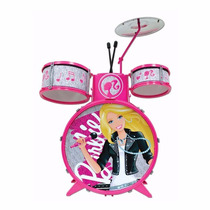 Bateria Infantil Barbie Musical 3847 Fun - Pronta Entrega