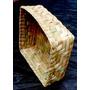 Cesta-caixa-pão Pascoa Bombom - Palha Taboa - 15x15x06