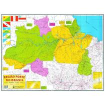 Mapa Geo Político Rodoviário Gigante Região Norte Do Brasil