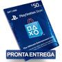 Cartão $50 Dólares Playstation Psn Card Us Network