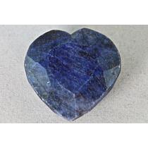 Rsp 357 Safira Azul Natural Coração 26,9x25,7mm Com 80,56 Ct