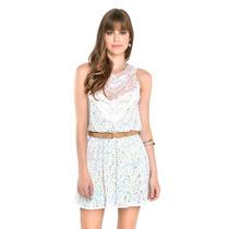 Maravilhoso Vestido Dress To Renda Estampa Havana Tam G Novo