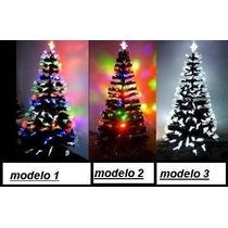 Árvore De Natal Fibra Ótica E Led Funcoes De Pisca 1,5m 110v