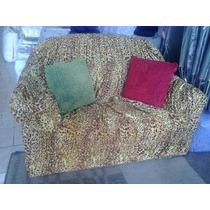 Capa Sofa Estampada 2 E 3 Lugares Malha Gel 21 Elasticos
