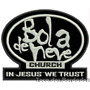 Patch Bordado Bola De Neve Church In Jesus We 8x10cm Rlg31