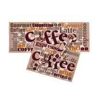 Kit Tapete Para Cozinha 3 Pçs Com Passadeira Coffee Corttex
