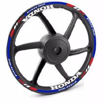 Kit M01 Refletivo Friso Roda E Interno Moto Honda Cg Fan 160
