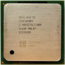 Processador Pentium 4 - 2.4 Ghz / 512 Kb/800mhz / Socket 478
