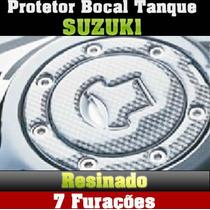 Protetor Bocal Tanque Resinado Suzuki 7 Furos (guga Tuning)