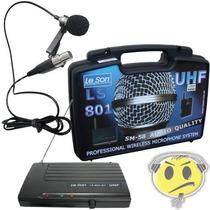 Microfone Lapela Sem Fio Leson Ls801 Pro Uhf P R O M O Ç Ã O