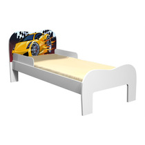 Mini-cama Soneca 100% Mdf Branco/carro Vermelho - Tigusbaby