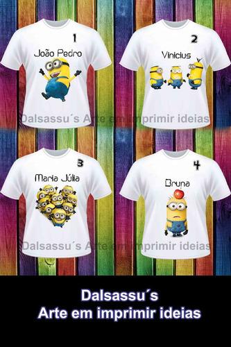 e2056f435 Camiseta Blusas Infantil Minions Personalizada Dalsassu´s R 20 lho4T ...