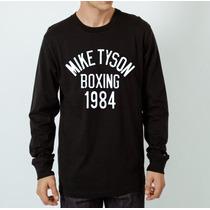 Camiseta Manga Longa Mike Tyson Boxing 1984 Brooklyn