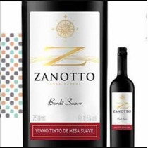 Vinho Tinto Bôrdo Suave Zanotto 750 Ml Caixa Com 3 Unid
