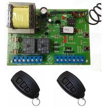 Central Placa Portão Eletrônico Universal + 2 Controles
