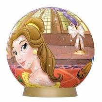 Quebra Cabeça 3d Puzzle Bola Disney A Bela E A Fera 60 Peças