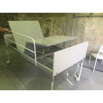 Cama Hospitalar 2 Mov Completa Com Colchão