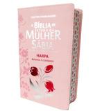 Biblia De Estudo Da Mulher Sabia Letra Grande Com Harpa Rosa