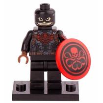 Boneco Capitão America Hydra Marvel Herois Compativel Lego