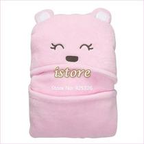 Manta - Saco De Dormir Urso Rosa- Bebê- Importado