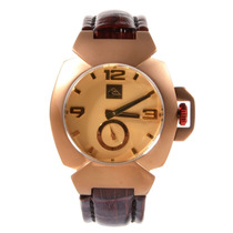 Relógio Masculino Quiksilver Foxhound Leather Cooper Gold